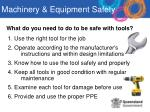 what do you need to do to be safe with tools