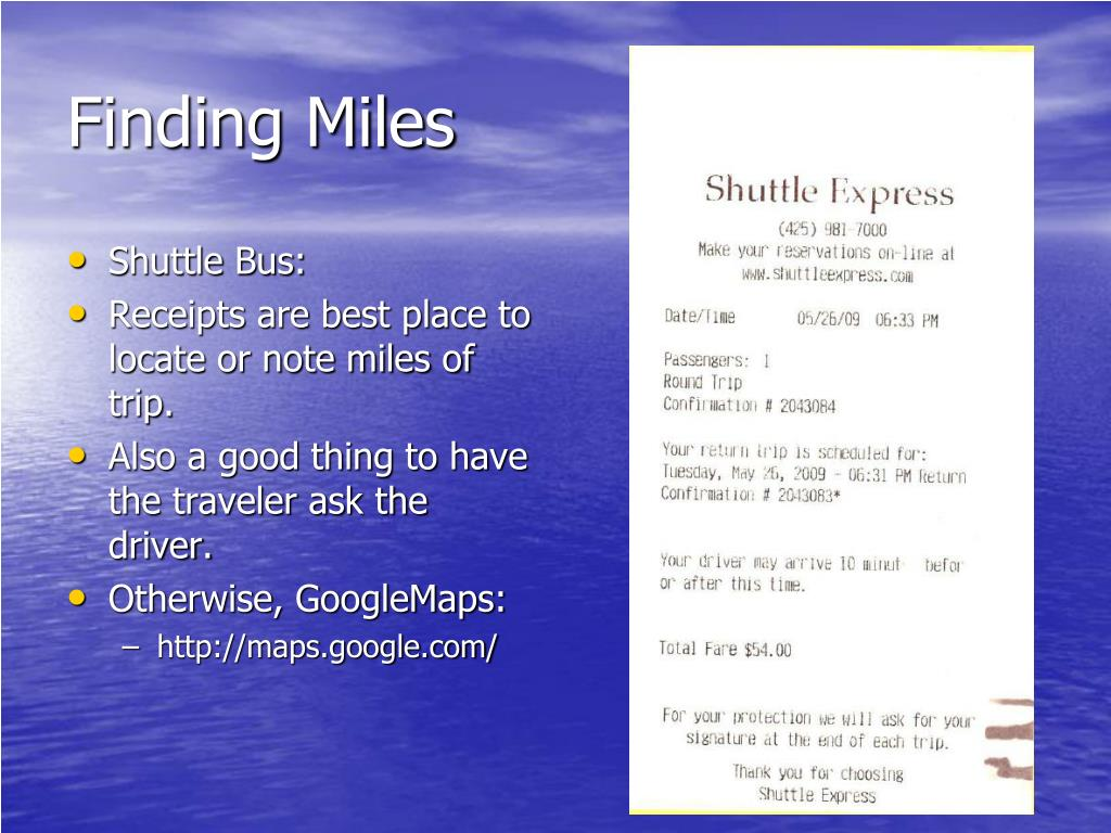 Finding Miles
