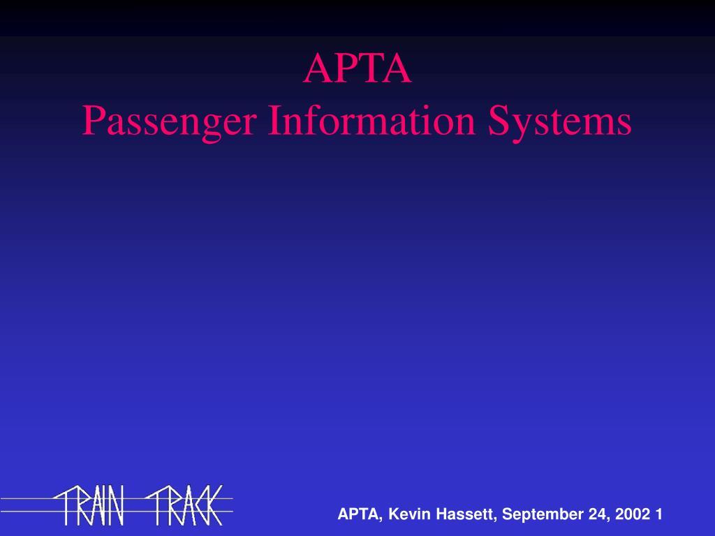 apta passenger information systems