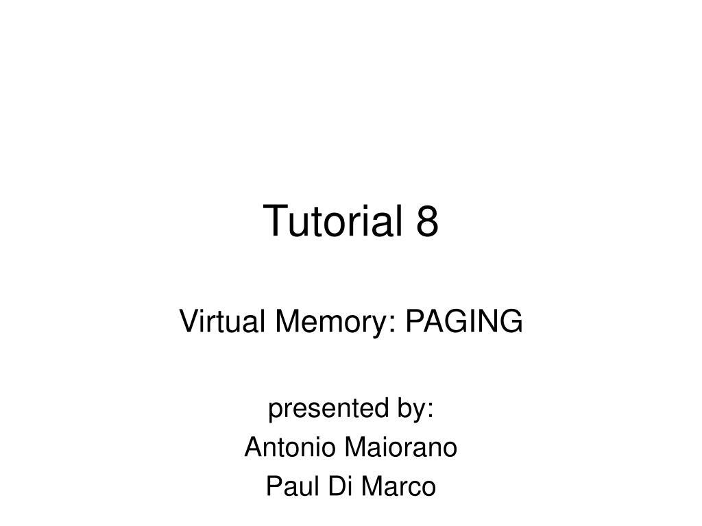 tutorial 8