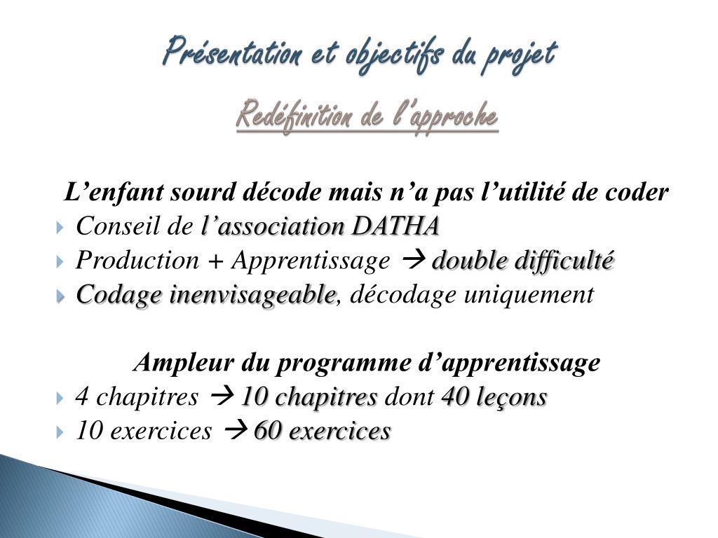 Présentation et objectifs du projet