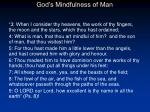 god s mindfulness of man