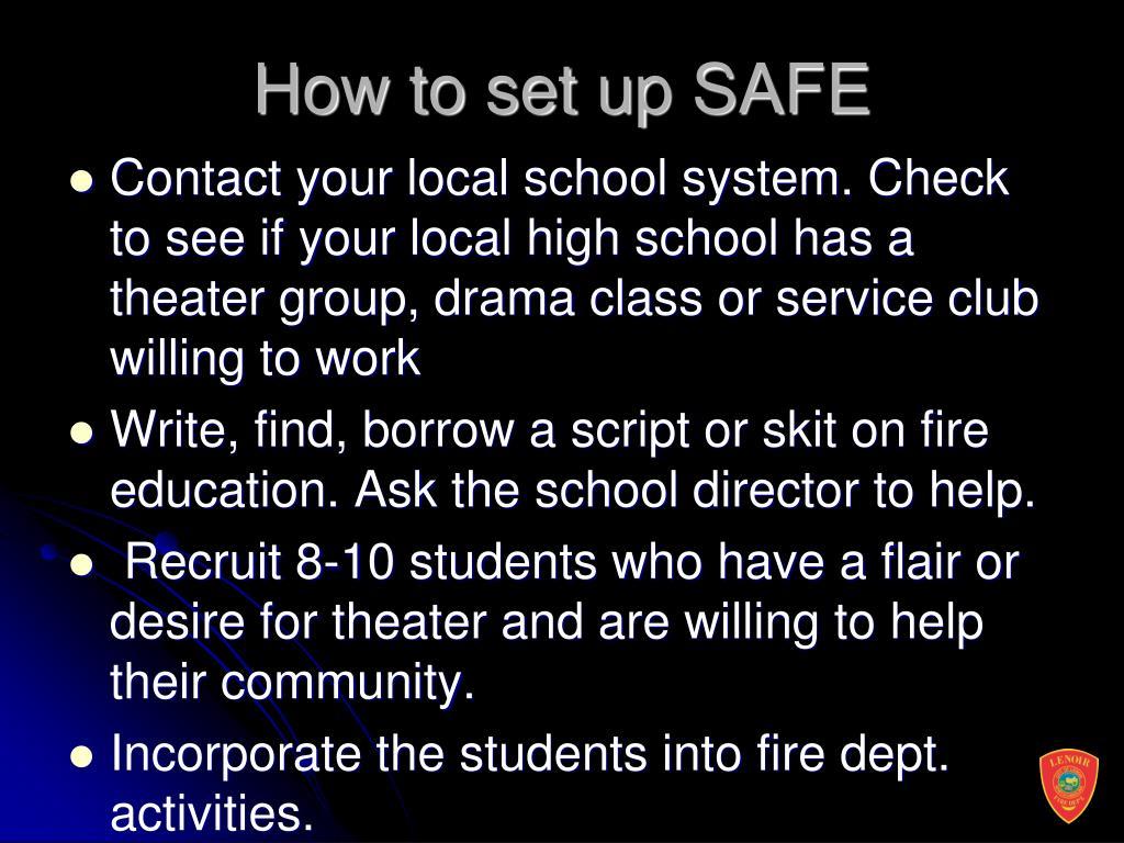 How to set up SAFE