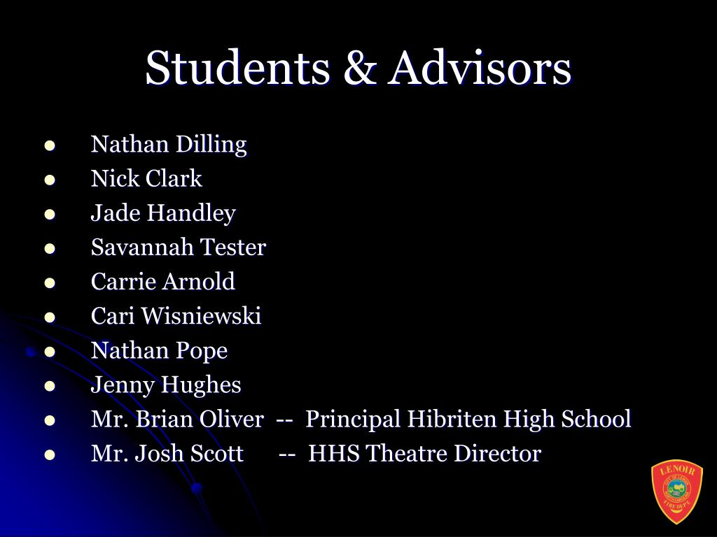 Students & Advisors