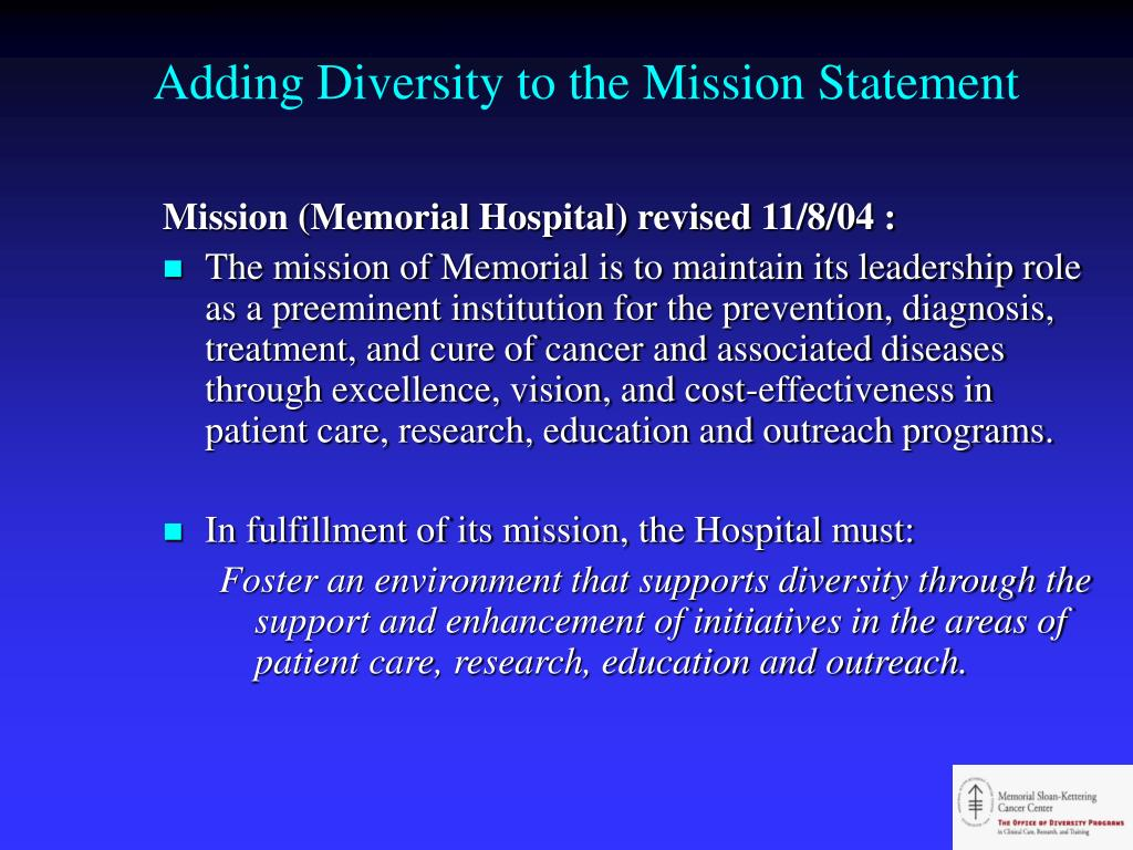 Adding Diversity to the Mission Statement