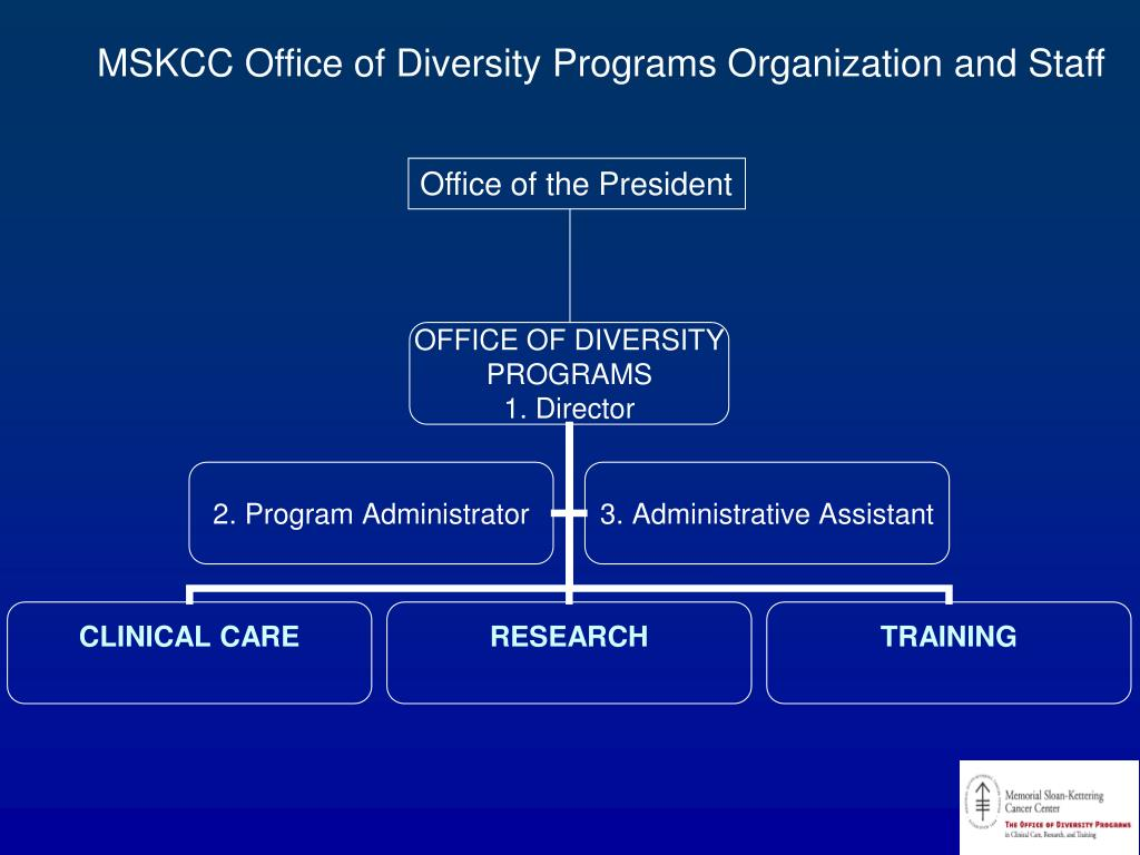 MSKCC Office of Diversity Programs Organization and Staff