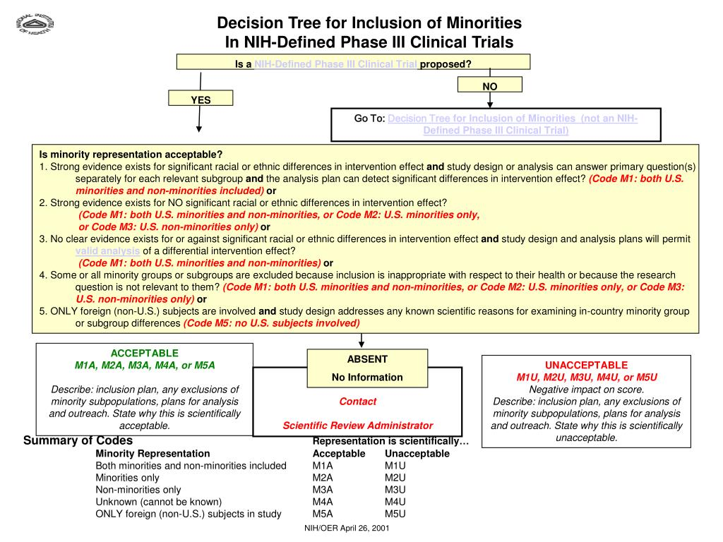 Decision Tree for Inclusion of Minorities