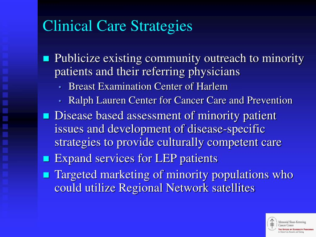 Clinical Care Strategies