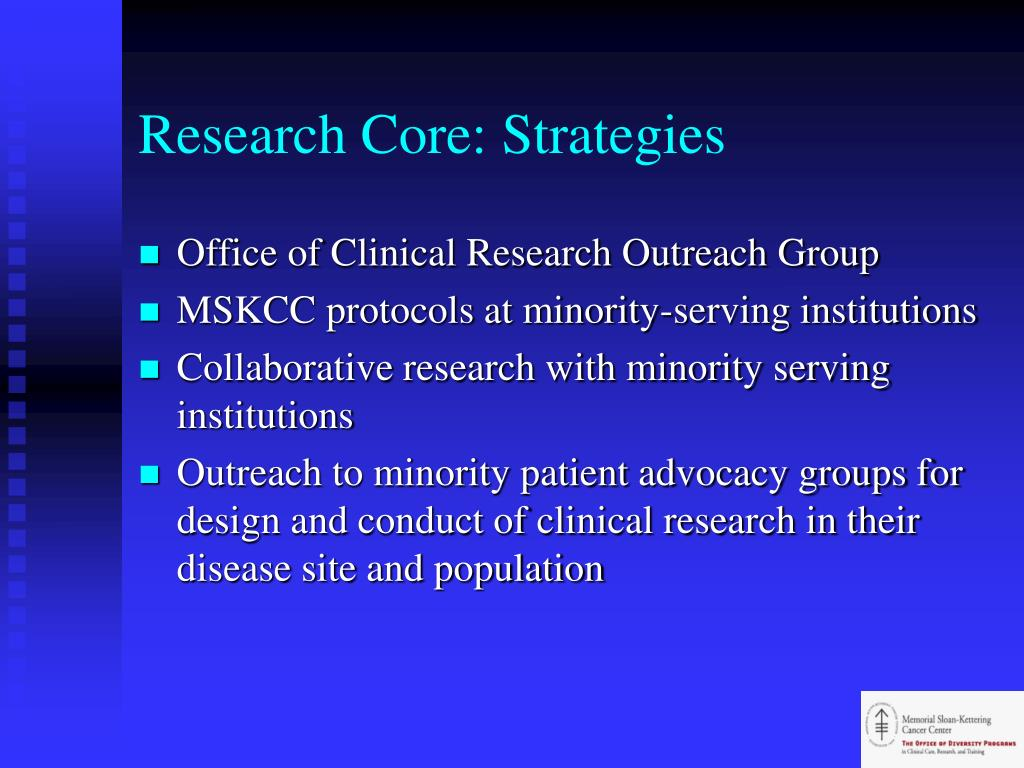 Research Core: Strategies