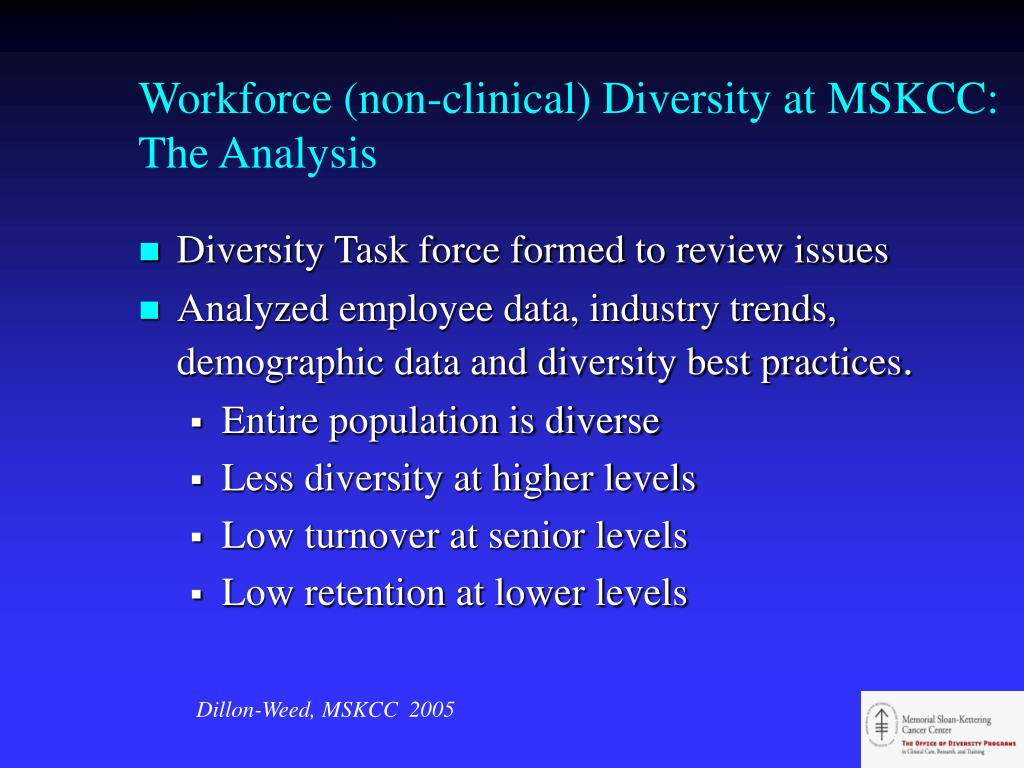 Workforce (non-clinical) Diversity at MSKCC: