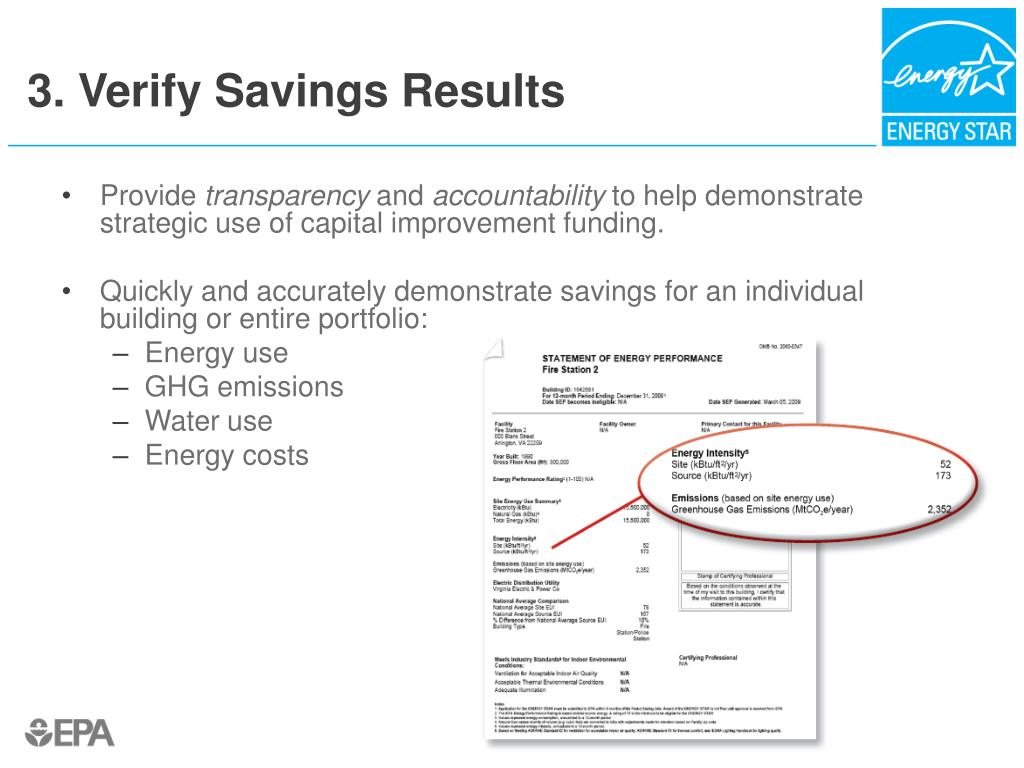 3. Verify Savings Results