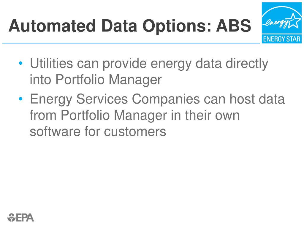 Automated Data Options: ABS