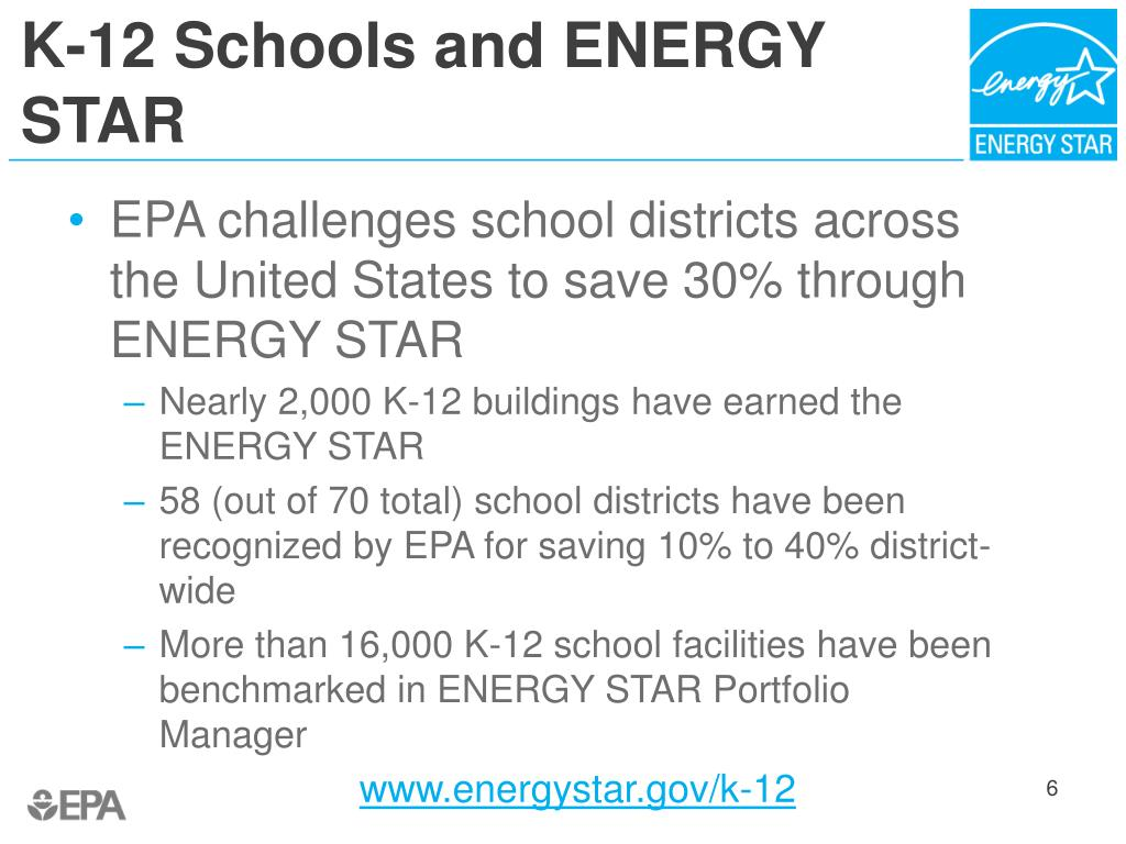 K-12 Schools and ENERGY STAR