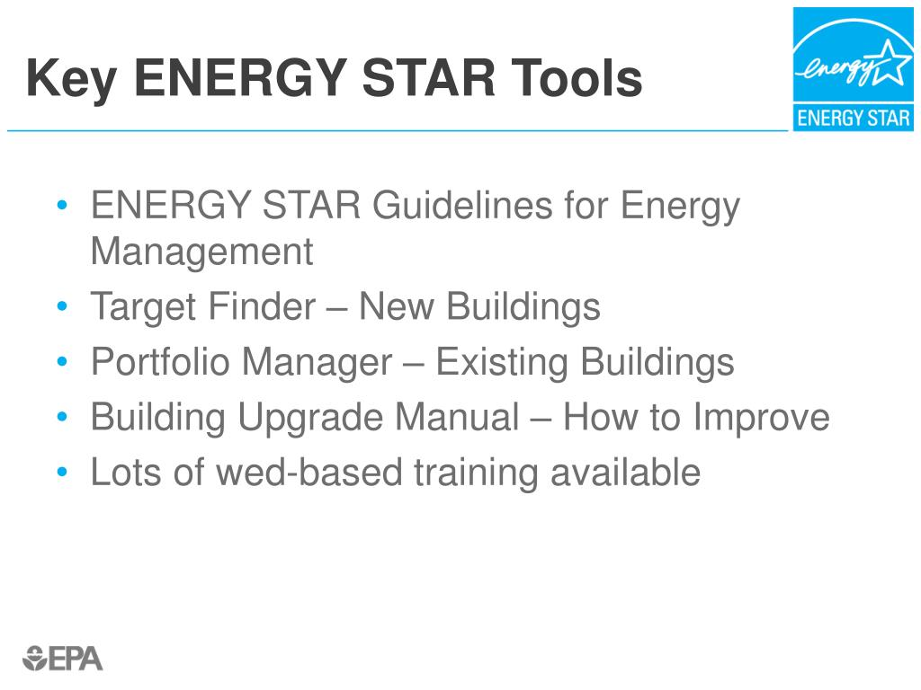 Key ENERGY STAR Tools