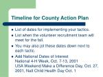 timeline for county action plan