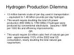 hydrogen production dilemma