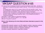 mksap question 65