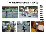 ive phase i vehicle activity