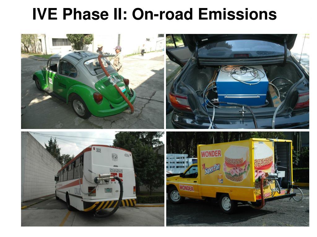 IVE Phase II: On-road Emissions