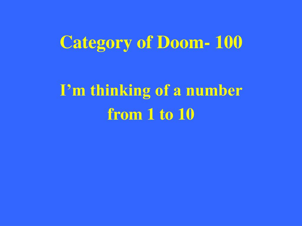 Category of Doom- 100