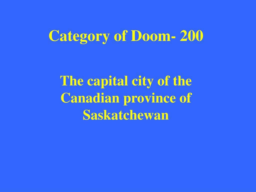 Category of Doom- 200