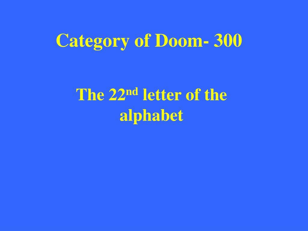 Category of Doom- 300