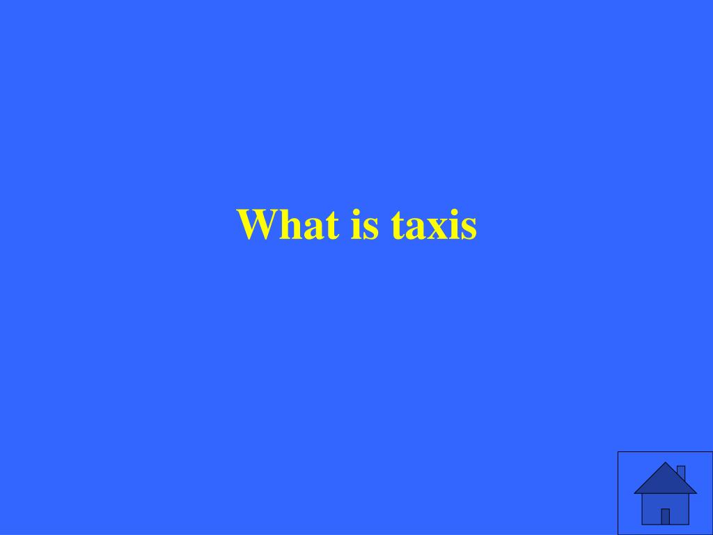 What is taxis