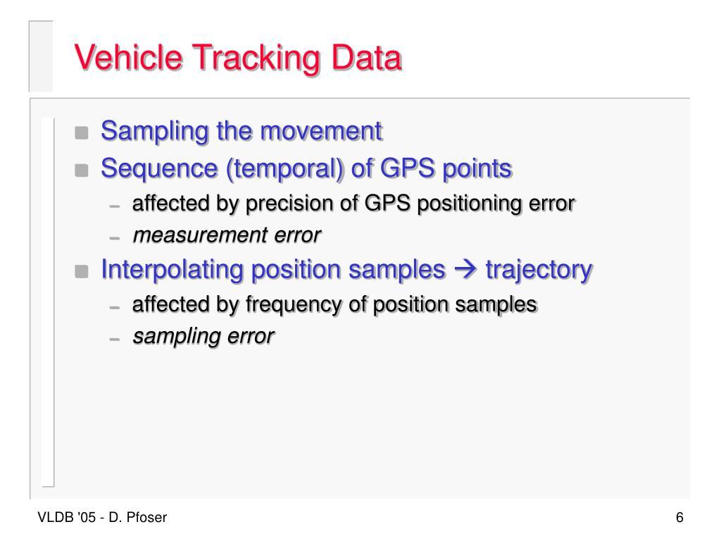 Vehicle Tracking Data