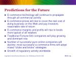 predictions for the future