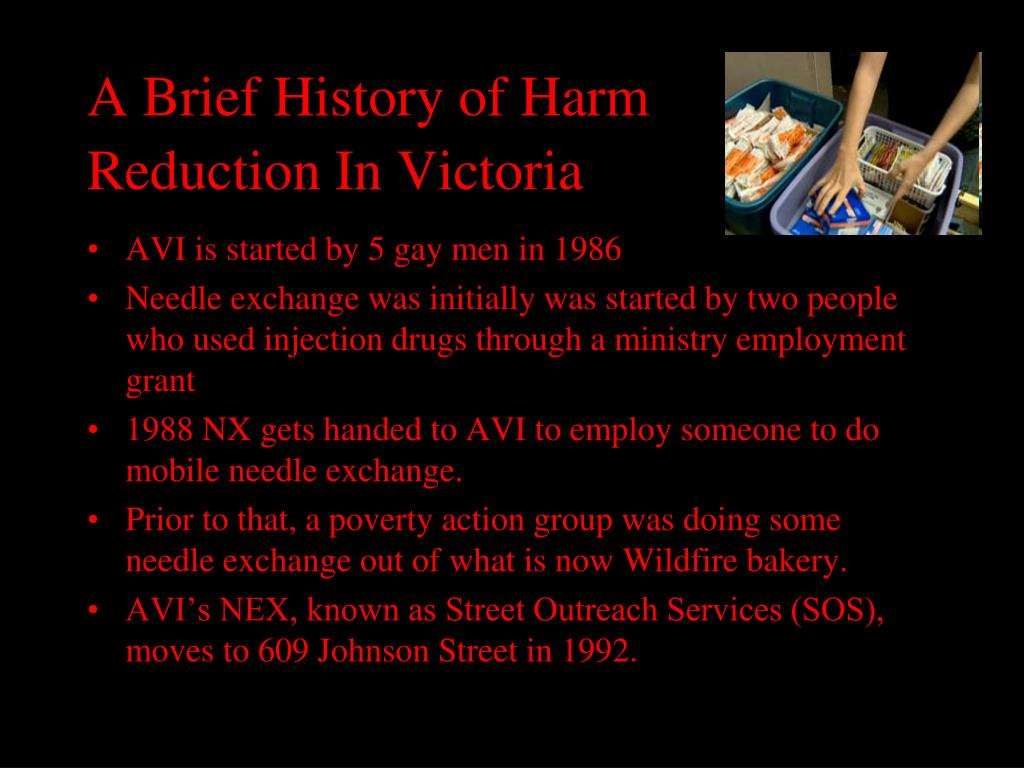 A Brief History of Harm Reduction In Victoria