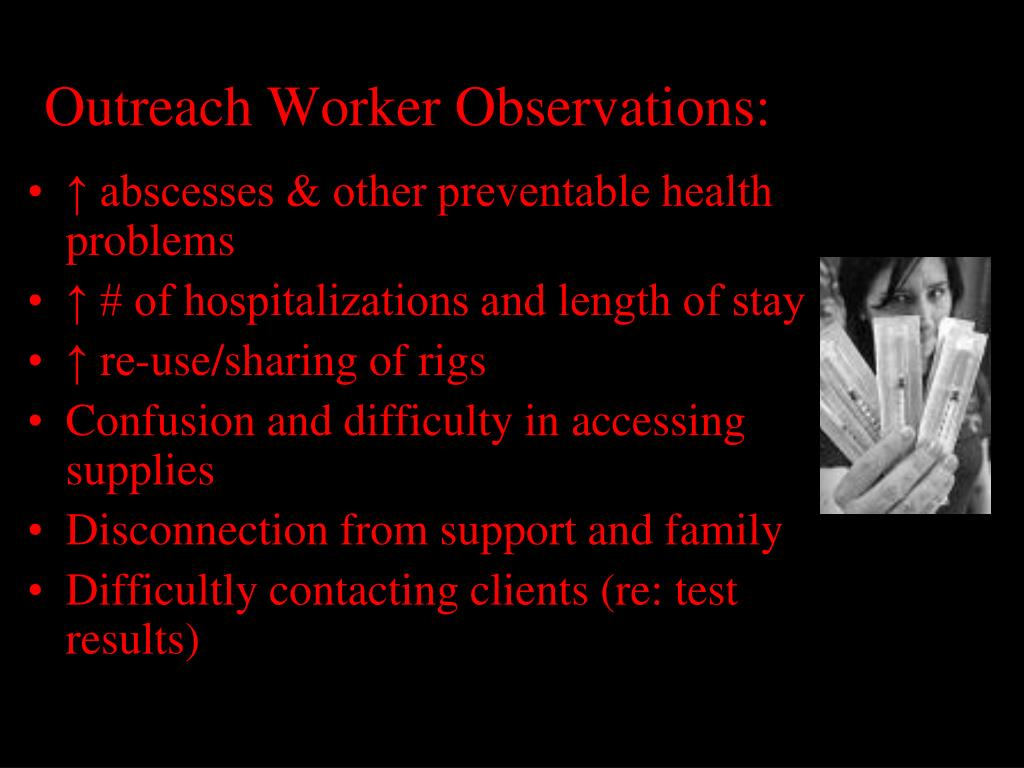 Outreach Worker Observations: