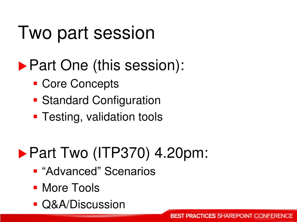 Two part session