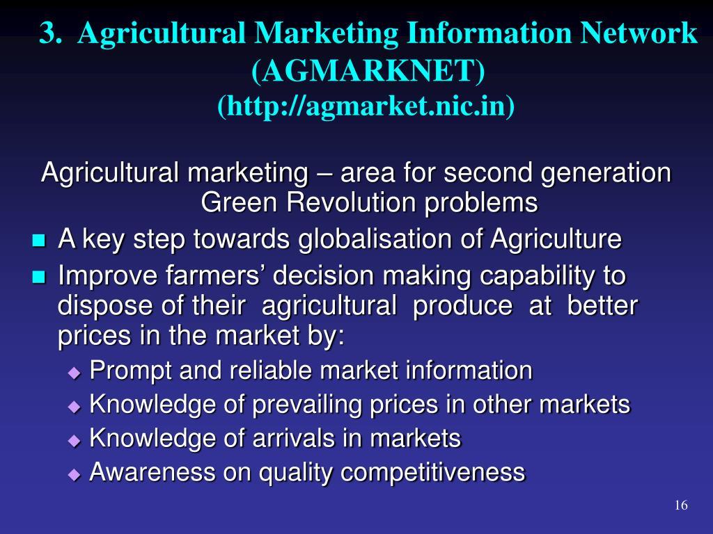 3.  Agricultural Marketing Information Network (AGMARKNET)