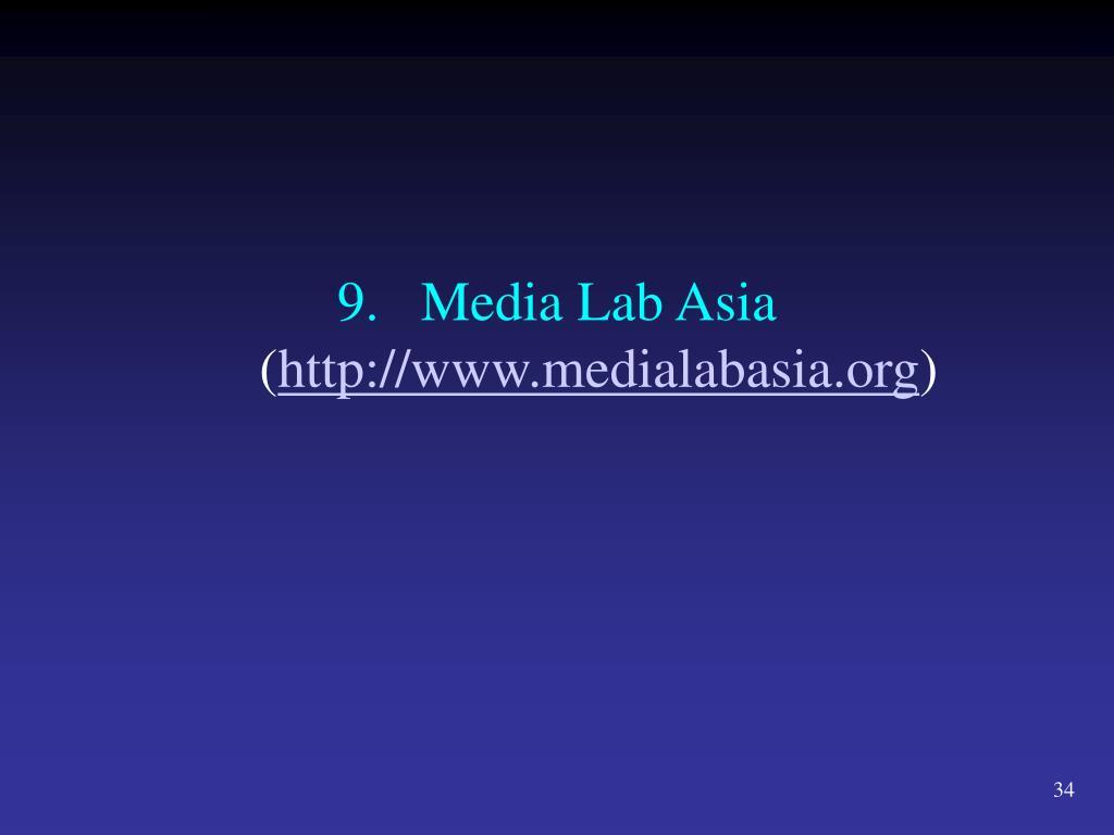 9.Media Lab Asia