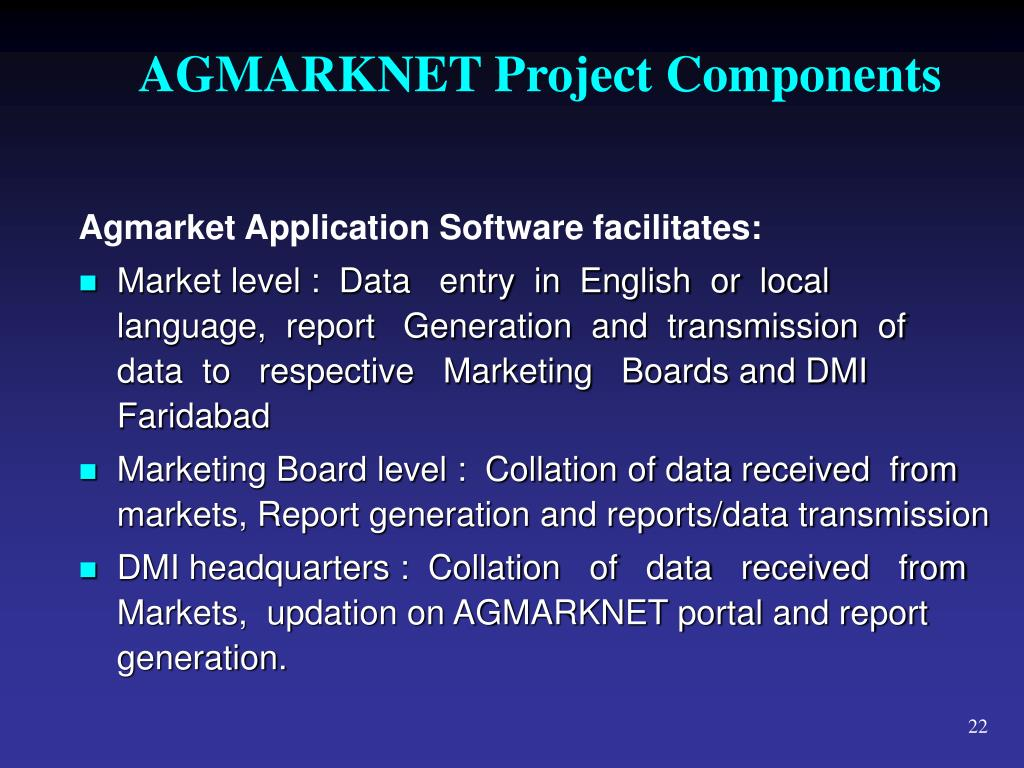 AGMARKNET Project Components