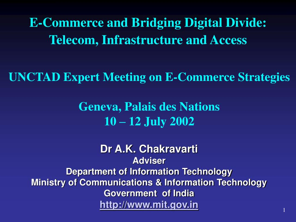 e commerce and bridging digital divide telecom infrastructure and access l.