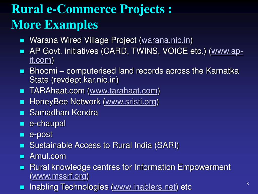 Rural e-Commerce Projects :