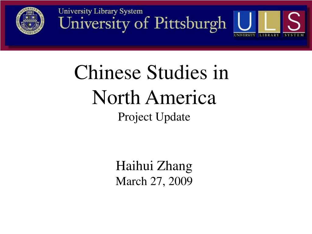 Chinese Studies in