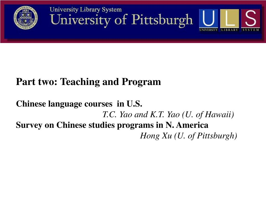 Part two: Teaching and Program