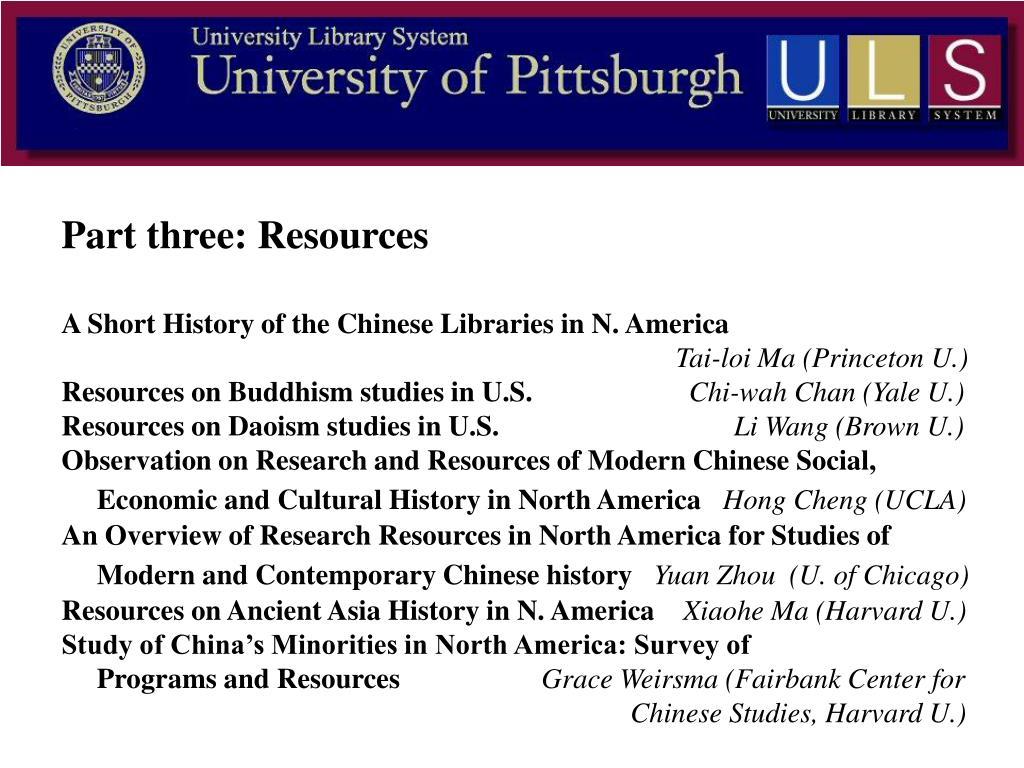 Part three: Resources