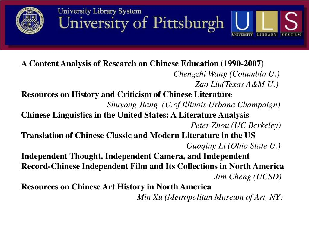 A Content Analysis of Research on Chinese Education (1990-2007)