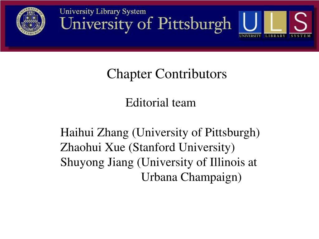 Chapter Contributors