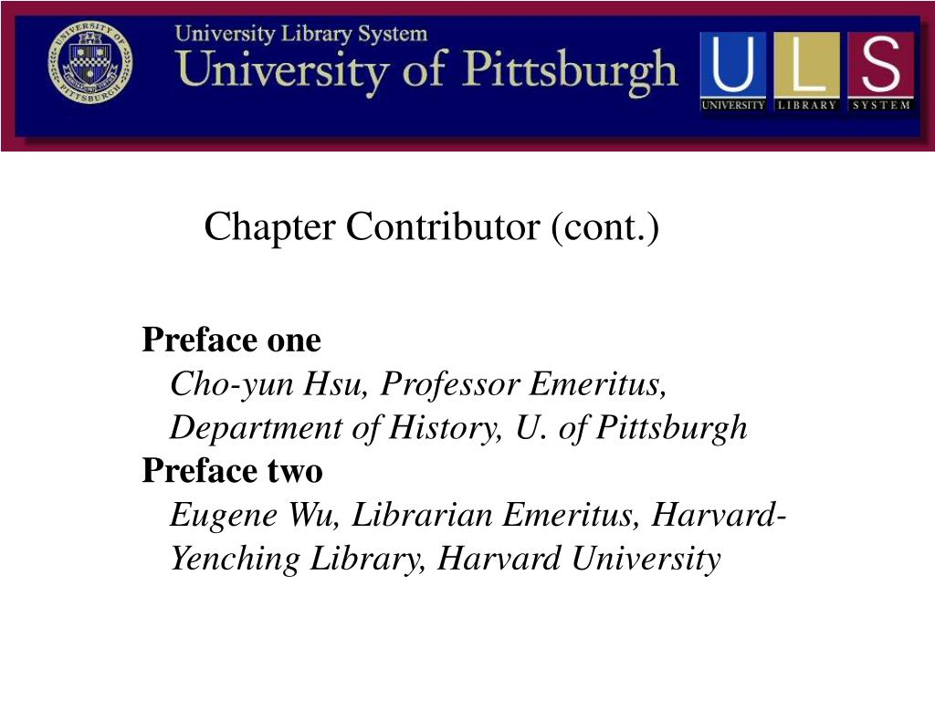 Chapter Contributor (cont.)