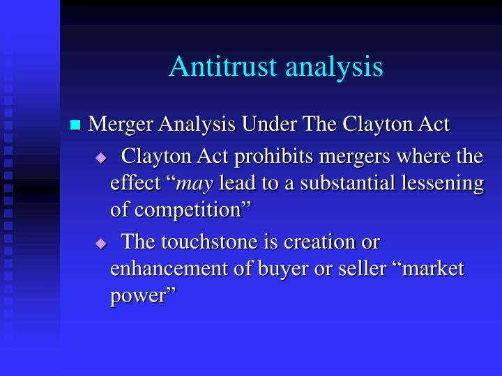 Antitrust analysis