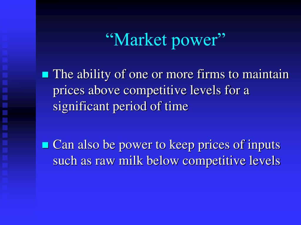 """Market power"""