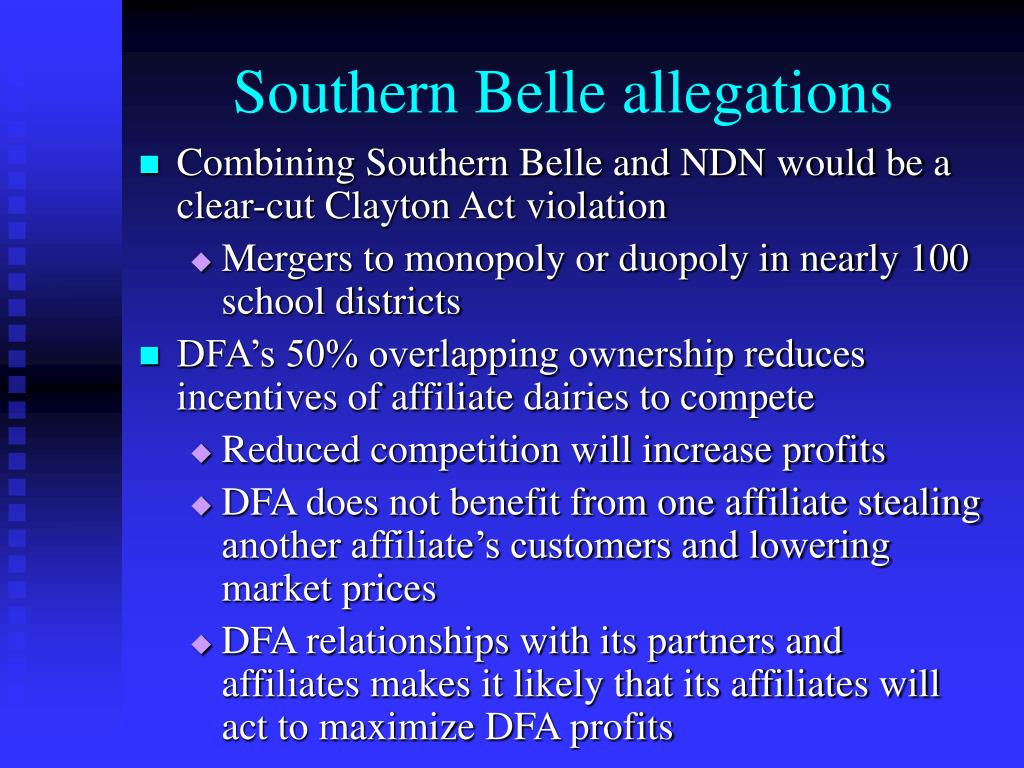 Southern Belle allegations