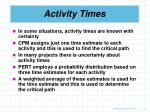 activity times