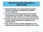 general foundry example of pert cpm