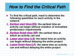 how to find the critical path20