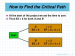 how to find the critical path22